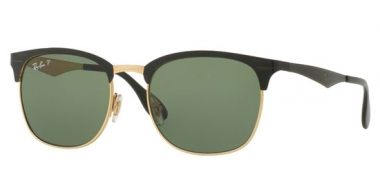 Sunglasses - Ray-Ban® - Ray-Ban® RB3538 - 187/9A TOP SHINY BLACK ON GOLD // DARK GREEN POLAR