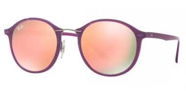 Gafas de Sol - Ray-Ban® - Ray-Ban® RB4242 ROUND II LIGHT RAY - 60342Y SHINY VIOLET // BROWN MIRROR PINK