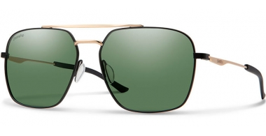 Gafas de Sol - Smith - DOUBLE DOWN - I46 (L7)  BLACK GOLD // GREEN POLARIZED ChromaPop™