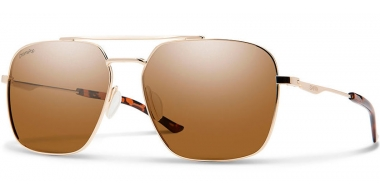Gafas de Sol - Smith - DOUBLE DOWN - J5G (L5)  GOLD // BROWN POLARIZED ChromaPop™