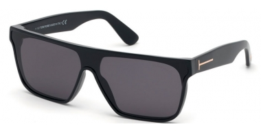 Sunglasses - Tom Ford - WYHAT FT0709 - 01A  POLISHED BLACK // GREY