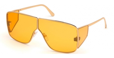 Sunglasses - Tom Ford - SPECTOR FT0708 - 33E  SHINY GOLD // ORANGE