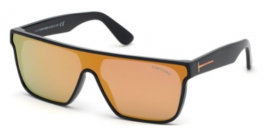 Sunglasses - Tom Ford - WYHAT FT0709 - 01G  POLISHED BLACK // BROWN MIRROR