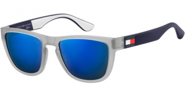 Sunglasses - Tommy Hilfiger - TH 1557/S - FRE (XT)  MATTE GREY // BLUE SKY MIRROR