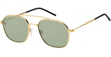 Sunglasses - Tommy Hilfiger - TH 1599/S - PEF (QT) GOLD GREEN // GREEN