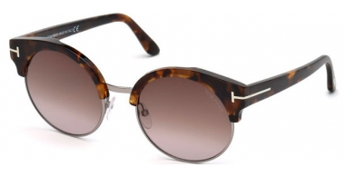 Sunglasses - Tom Ford - ALISSA-02 FT0608 - 55Z DARK HAVANA // BROWN MIRROR GRADIENT