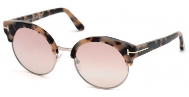 Sunglasses - Tom Ford - ALISSA-02 FT0608 - 56G HAVANA HORN // PINK MIRROR GRADIENT