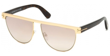 Gafas de Sol - Tom Ford - STEPHANIE-02 FT0570 - 28G SHINY GOLD // LIGHT BROWN PINK MIRROR