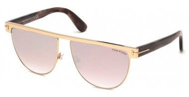 Gafas de Sol - Tom Ford - STEPHANIE-02 FT0570 - 28Z SHINY GOLD // LIGHT PINK MIRROR