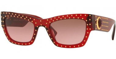 Gafas de Sol - Versace - VE4358 - 388/14 TRANSPARENT RED // VIOLET BROWN GRADIENT