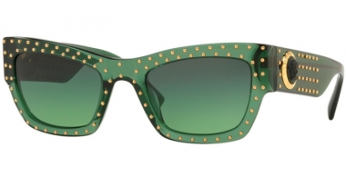 Gafas de Sol - Versace - VE4358 - 51442A TRANSPARENT GREEN // GREEN GRADIENT