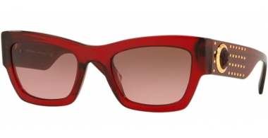 Gafas de Sol - Versace - VE4358 - 529714 TRANSPARENT RED // VIOLET BROWN GRADIENT