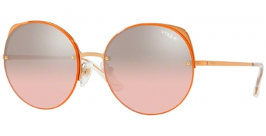 Sunglasses - Vogue - VO4081S - 50757E ROSE GOLD // LIGHT PINK GRADIENT SILVER MIRROR