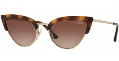 Sunglasses - Vogue - VO5212S - W65613 HAVANA PALE GOLD // BROWN GRADIENT