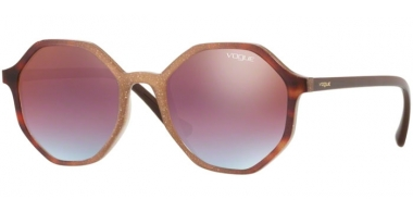 Sunglasses - Vogue - VO5222S - 2639H7 OPAL BEIGE GLITTER GRADIENT HAVANA // AZURE GRADIENT PINK GRADIENT BROWN MIRROR RED