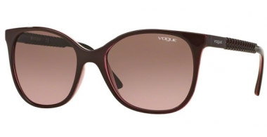 Sunglasses - Vogue - VO5032S - 226214 TOP BORDEAUX GLITTER PINK // PINK GRADIENT BROWN