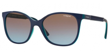 Sunglasses - Vogue - VO5032S - 238348 TOP BLUETTE AZURE TRANSPARENT // PINK GRADIENT GREY