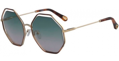 Sunglasses - Chloé - CE132S POPPY - 240 HAVANA GOLD // GREEN GRADIENT ROSE