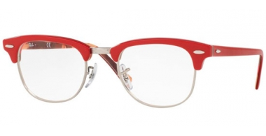 Frames - Ray-Ban® - RX5154 CLUBMASTER - 5651 RED ON TEXTURE CAMUFLAGE