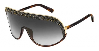 Sunglasses - Jimmy Choo - SIRYN/S - J5G (FQ) GOLD // GREY GRADIENT GOLD MIRROR