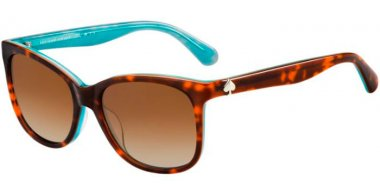 Sunglasses - Kate Spade - DANALYN/S - GHG (LA) HAVANA AQUA // BROWN GRADIENT POLARIZED