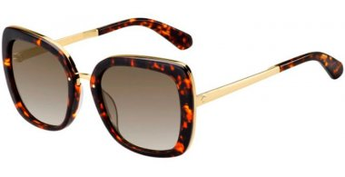 Sunglasses - Kate Spade - KIMORA/G/S - 086 (HA) DARK HAVANA GOLD // BROWN GRADIENT