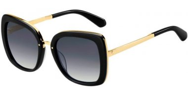 Sunglasses - Kate Spade - KIMORA/G/S - 807 (9O) BLACK GOLD // DARK GREY GRADIENT