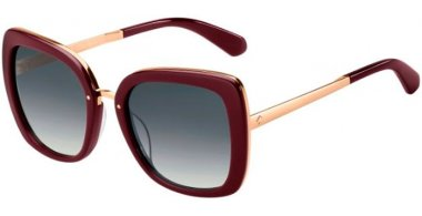 Sunglasses - Kate Spade - KIMORA/G/S - LHF (9O) BURGUNDY GOLD // DARK GREY GRADIENT