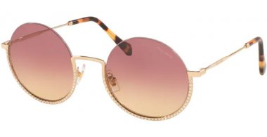 Sunglasses - Miu Miu - SMU 69US CORE COLLECTION - ZVN09B PALE GOLD // VIOLET GRADIENT YELLOW