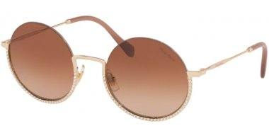 Sunglasses - Miu Miu - SMU 69US CORE COLLECTION - ZVN1Z1 PALE GOLD // BROWN GRADIENT