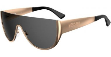 Sunglasses - Moschino - MOS062/S - 2F7 (IR) GOLD GREY // GREY