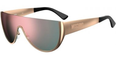Sunglasses - Moschino - MOS062/S - J5G (0J) GOLD // GREY ROSE GOLD MIRROR