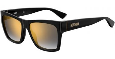 Sunglasses - Moschino - MOS064/S - 807 (FQ) BLACK // GREY GRADIENT GOLD MIRROR