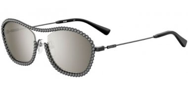 Sunglasses - Moschino - MOS071/S - V81 (T4) DARK RUTHENIUM // SILVER MIRROR