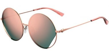 Sunglasses - Moschino - MOS073/G/S - DDB (0J) GOLD COPPER // GREY ROSE GOLD MIRROR