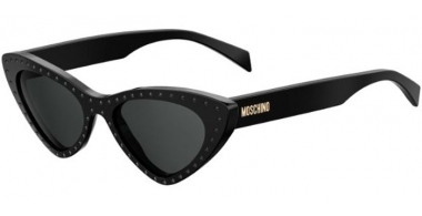 Sunglasses - Moschino - MOS006/S - 2M2 (IR) BLACK GOLD // GREY