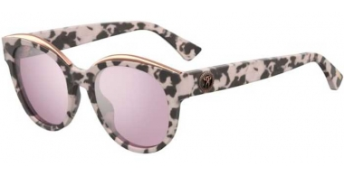 Sunglasses - Moschino - MOS033/S - HT8 (2S) PINK HAVANA // PINK SILVER MIRROR