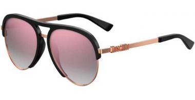 Sunglasses - Moschino - MOS041/S - 2M2 (VQ) BLACK GOLD // PINK MULTILAYER