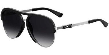 Sunglasses - Moschino - MOS041/S - BSC (9O) BLACK SILVER // DARK GREY GRADIENT