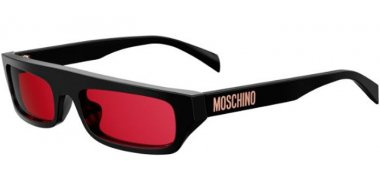 Sunglasses - Moschino - MOS047/S - OIT (4S) BLACK RED GOLD // BURGUNDY