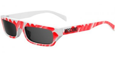 Sunglasses - Moschino - MOS047/S - WGX (IR) WHITE SPOTTED RED // GREY