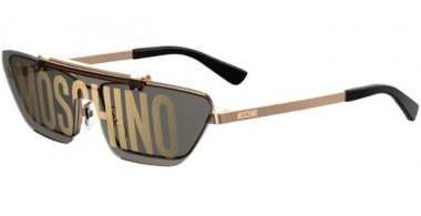 Sunglasses - Moschino - MOS048/S - 000 (0A) ROSE GOLD // GOLD DECORED