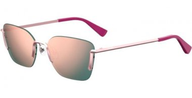 Sunglasses - Moschino - MOS054/S - 35J (0J) PINK // GREY ROSE GOLD MIRROR
