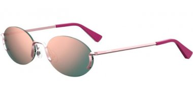 Sunglasses - Moschino - MOS055/S - 35J (0J) PINK // GREY ROSE GOLD MIRROR
