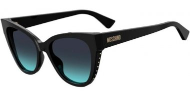 Sunglasses - Moschino - MOS056/S - 807 (GB) BLACK // GREY AZURE GRADIENT