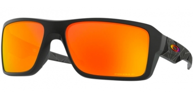 Sunglasses - Oakley - DOUBLE EDGE OO9380 - 9380-23 MATTE BLACK PRIZMATIC // PRIZM RUBY POLARIZED