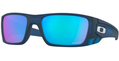 Sunglasses - Oakley - FUEL CELL OO9096 - 9096-K1 MATTE TRANSLUCENT BLUE // PRIZM SAPPHIRE