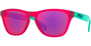 Frames Junior - Oakley Junior - FROGSKINS XS OJ9006 - 9006-09 MATTE TRANSLUCENT CRYSTAL PINK // PRIZM ROAD
