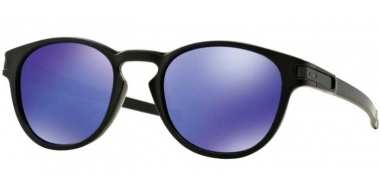 Sunglasses - Oakley - LATCH OO9265 - 9265-06 MATTE BLACK // VIOLET IRIDIUM