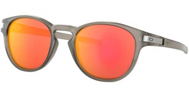 Sunglasses - Oakley - LATCH OO9265 - 9265-15 MATTE GREY INK // RUBY IRIDIUM